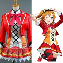 Love Live!SIF SR Card 619 Honoka Kosaka Cosplay Costume Stage Uniform Dress Suit - $65.00+