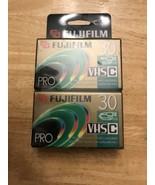 Lot of 2 Fuji Pro VHS-C Camcorder TC-30  New and Sealed - $7.91