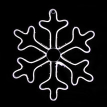 "Northlight 18"" Neon LED White Snowflake Christmas Window Silhouette Deco... - $55.18"
