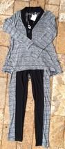 CSC Studio Top and Skinny Pant Set in Black/Grey, S - $30.43
