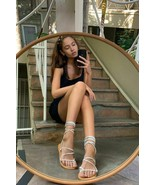 NEW Urban Outfitters UO Marley Suede Gladiator Sandals in Blue sz 6 - $23.76