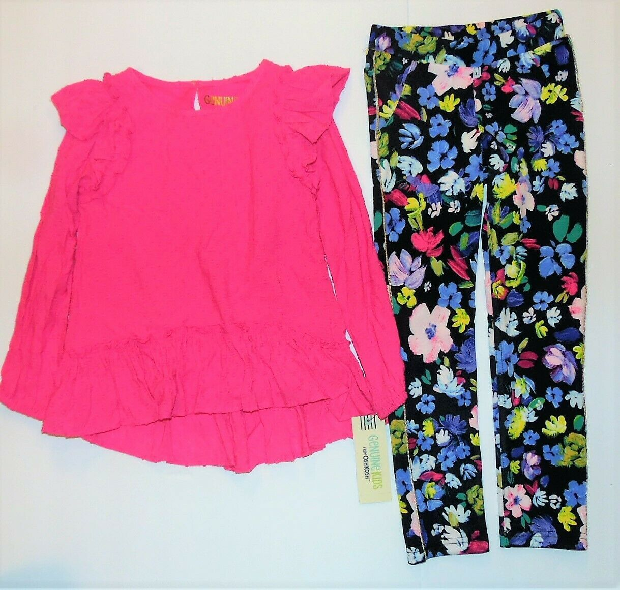 Genuine Kids From OshKosh Toddler Girls 2pc Pink Floral Outfit Size 3T NWT - $20.36