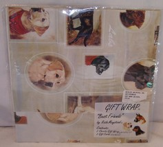 Ruth Maystead New Unopened Gift Wrap Wrapping Paper Best Friends Dogs Lab - $12.35