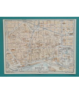 "1934 MAP 6 x 8"" (15 x 20 cm) - BARCELONA City Plan Spain & PALMA in Mall... - $21.60"