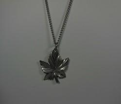 Vintage Frederick Pewter Canada Maple Leaf Pendant - $12.86