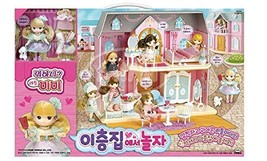 Mimi World Let's Play in a Two Story House Dollhouse Doll Role Play Toy Set