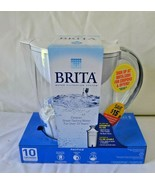 BRITA Water Filtration System Pitcher 10 Cup with Filter Pacifica BPA Fr... - $60.97