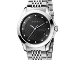Gucci YA126405 Black Dial Stainless Steel Strap Gents Watch - £384.33 GBP