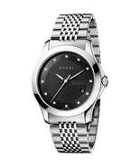 Gucci YA126405 Black Dial Stainless Steel Strap Gents Watch - $561.99