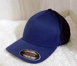 New FLEXFIT Navy Baseball Cap by Yupoong - Polyester/Cotton Blend - Size S/M - $14.95
