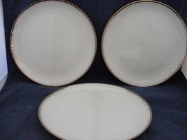 "3 Royalton China Co Translucent Porcelain 9.25"" Dinner Plates Platinum Trim - $14.95"