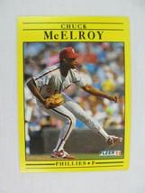 Chuck McElroy Philadelphia Phillies 1991 Fleer Baseball Card 406 - $0.98