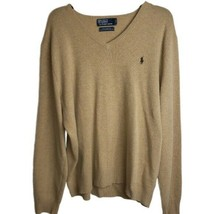 Polo by Ralph Lauren 100% Lambs Wool Sweater Size XL V-Neck Long Sleeves - $34.99