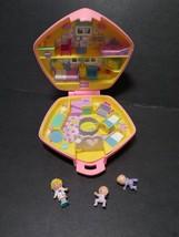 VTG Bluebird Polly Pocket 1992 Pink Pentagon Nursery Compact with 3 Figures - $79.08