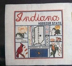 Janlynn America The Beautiful Indiana Counted Cross Stitch NOS Unopened Kit - $29.69