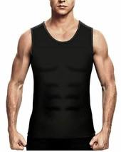 Men's Sweat Shaper Vest, Workout Tank Top, Black, Size M image 2