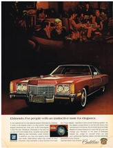 Vintage 1972 Magazine Ad Cadillac Eldorado For People With Taste For Elegance - $5.93