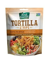 Fresh Gourmet Tortilla Strips, Santa Fe Style, 3.5 Ounce Pack of 9