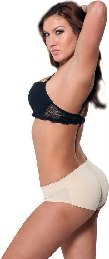 NEW WOMEN'S FULLNESS AIR FLO PADDED BUTT SHAPER BOOSTER PANTY BEIGE #8081