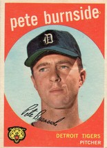 1959 Topps Baseball Card PETE BURNSIDE #354 Detroit Tigers See Condition - $2.51