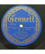 Gennett 78 Harry Radermans Orch Tuck Me To Sleep Falcones Metronome Cho ... - $51.75