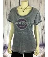 HARD ROCK CAFE Hotel Riviera Maya Mexico Grey Women's Fitted Shirt SIZE ... - $14.99