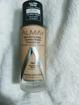 ALMAY Skin Perfecting Comfort Matte Foundation NEW 160 Neutral Beige Oil Free - $6.42