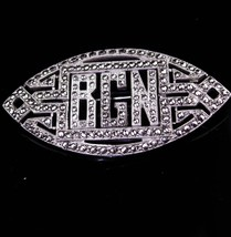 Brilliant Sterling brooch / Initial BGN / bcn letters / Antique Marcasite pin / - $165.00
