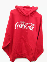 Coca-Cola Red Hoodie Hooded Sweatshirt Enjoy Coca-Cola Medium  BRAND NEW - $39.60