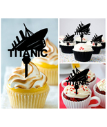 Mo12 Decorations cupcake toppers TITANIC silhouette Package : 10 pcs - $10.00