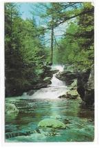 PA Pocono Mts Waterfalls Lovers Retreat 4th of the Winona 5 Falls Vntg Postcard - $4.99