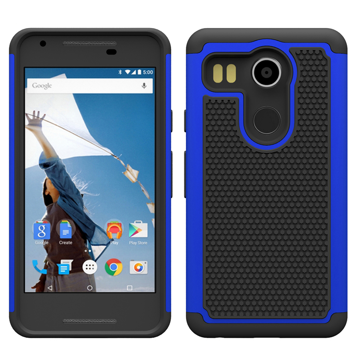 K absorbing dual layer hybrid protective armor case for lg nexus 5x dark blue p20151116160422775