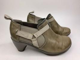 Merrell Women Size 7 Evera Rush Bootie Aluminum Gray Leather Heeled Booties - $49.47