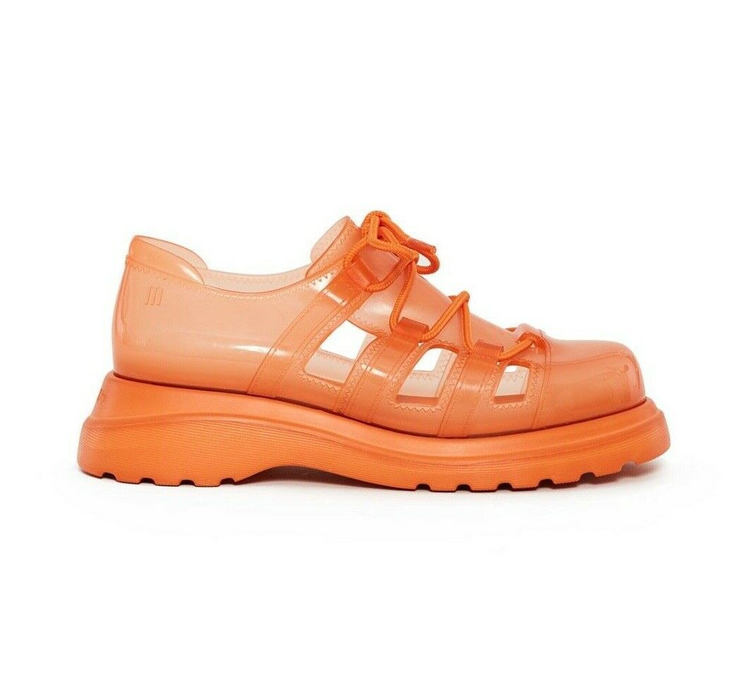 Primary image for NEW IN BOX Melissa x Opening Ceremony Lacey Sneaker Sandal in Orange sz 5