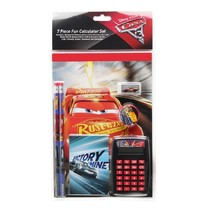 DISNEY CARS McQUEEN 7-Piece Stationery & Calculator Supplies Set Free Shipping - $7.84