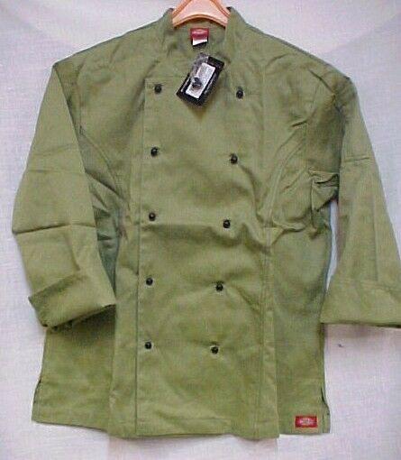 Dickies Chef Jacket Large CW070308CA Restaurant Economy Uniform Coat Celery New