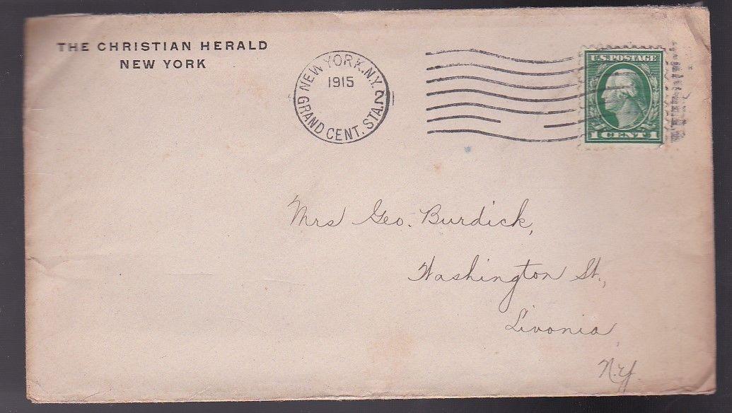THE CHRISTIAN HERALD NEW YORK NY 1915