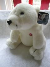"""1993 Coca Cola white plush bear, NWT, 10"""", Coca-Cola polar bear - $25.00"""