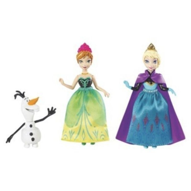 Disney Frozen Sisters Giftset - Very Small Figures 3 3/4 Princesses, Mattel, 3+