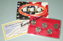2000 Denver Mint Edition State Quarter Collection - MA, SC, NH, MD, VA - $12.55