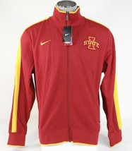Nike Collegiate Iowa State Red & Gold Zip Front Track Jacket Men's NWT - $67.49
