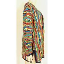 COOGI-sweater-SZ-M-100-silk-cardigan-brilliant-colorful lightweight image 2