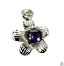 fascinating Amethyst 925 Sterling Silver Purple Pendant genuine india US... - $29.99