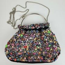 Vintage BOHO Beaded Purse Handbag Crossbody 10x9x3 ART DECO - $61.75