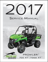 2017 Arctic Cat Prowler 700 XT / Prowler 1000 XT UTV Service Manual on a CD - $12.99