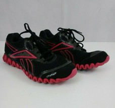Reebok ZIGNANO Women's Black & Pink Running Athletic Sneakers Shoes Size... - $23.36