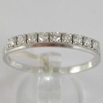 White Gold Ring 750 18K, Veretta 9 Diamonds Carat Total 0.28, Shank Flat image 1