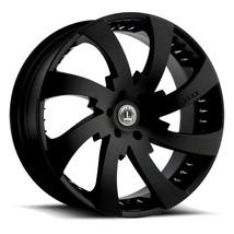 22x9.5 Luxxx Alloys LUX12 Gloss Black w/ Spike Rivets Wheel (SET OF 4) - $896.00