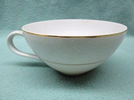 Touch of Gold Japan DoM Embassy tea cup white embossed gold trim PERFECT... - $7.11