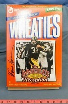 Pittsburgh Steelers Franco Harris Dédicacé Signé Wheaties Boite - $123.65